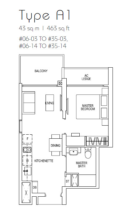 Parc riviera condo floor plans for 1 bedroom condo floor plans