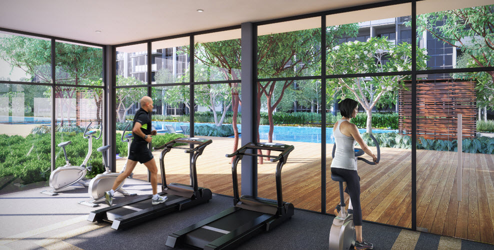 gym for workouts at EL development condo